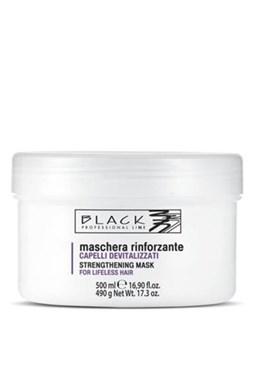 BLACK Starostlivosť o vlasy Posilňujúci maska \u200b\u200bpre oslabené, vlnité alebo krepaté vlasy 500ml