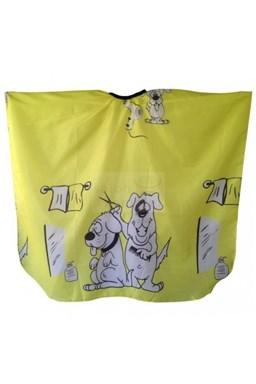 SALON KOMPLET Detská pláštenka na strihanie vlasov Psíci - žltá