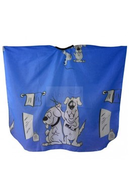 SALON KOMPLET Dětská pláštěnka na stříhání vlasů PEJSCI - modrá