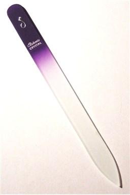 BOHEMIA CRYSTAL Sklenený pilník na nechty s potlačou - 140mm - fialový