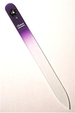 BOHEMIA CRYSTAL Sklenený pilník na nechty Swarovski - 140mm - fialový