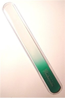 BOHEMIA CRYSTAL Velký skleněný pilník na nehty - 200mm - tmavě zelený