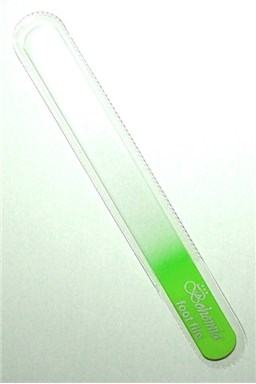 BOHEMIA CRYSTAL Veľký sklenený pilník na nechty - 200mm - sv. zelený
