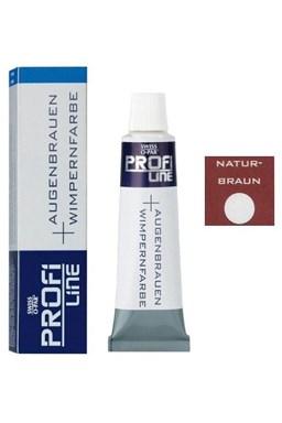 PROFI LINE Profesionálna farba na obočie a mihalnice 15ml - Prírodná hnedá