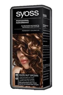 SYOSS Professional Permanentní barva na vlasy Hazelnut Brown - oříškově hnědá 5-8