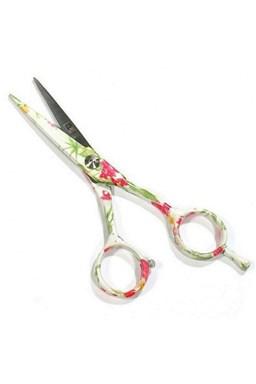 PRE FEEL JAPAN Green White Flowers profesionálne kadernícke nožnice na vlasy 5 '