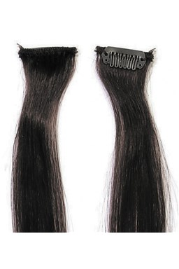 SIMPLY PERFECT Trendy 4ks - Pramene vlasov Human Hair 47cm na spone - 1B čierna