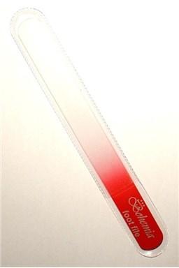 BOHEMIA CRYSTAL Veľký sklenený pilník na nechty - 200mm - červený