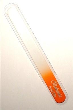 BOHEMIA CRYSTAL Veľký sklenený pilník na nechty - 200mm - oranžový