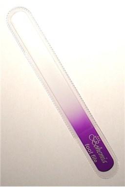 BOHEMIA CRYSTAL Veľký sklenený pilník na nechty - 200mm - fialový