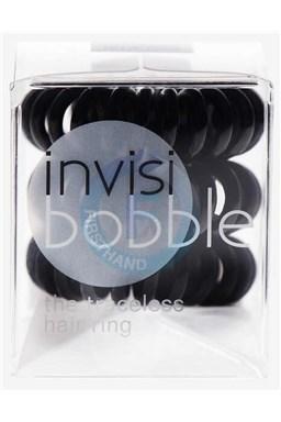 INVISIBOBBLE Traceless Hair Ring Black 3ks - Špirálová gumička do vlasov - čierna
