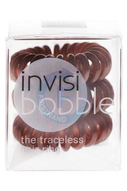 INVISIBOBBLE Traceless Hair Ring Brown 3ks - Špirálová gumička do vlasov - hnedá