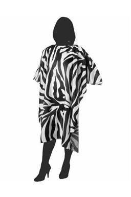 DUKO Plášte Kadernícka pláštenka na strihanie 125x145cm - čierno biela zebra