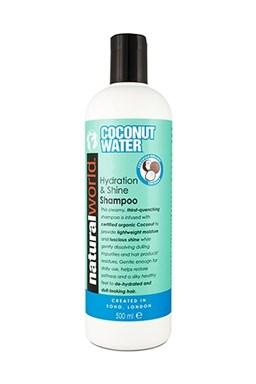 NATURAL WORLD COCONUT WATER Shampoo 500ml - kokosový šampón pre lesk vlasov