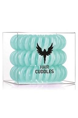 HH SIMONSEN Hair Cuddles turqoise 3ks - špirálové gumičky do vlasov - svetlo zelené