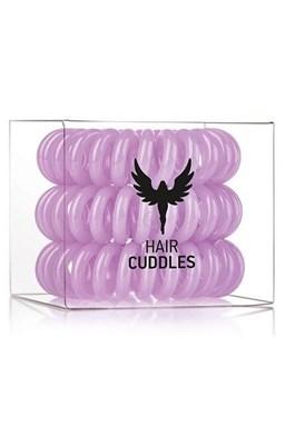 HH SIMONSEN Hair Cuddles Purple 3ks - špirálové gumičky do vlasov - svetlo fialovej
