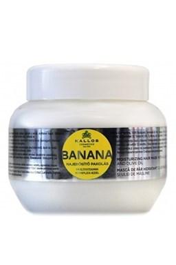 Kallos KJMN Banana Hair Mask 275ml - maska \u200b\u200bna suché vlasy s multivitamíny
