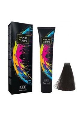 BES Movie Colors 1.0 Black - gelová barva na vlasy bez amoniaku 170ml - černá
