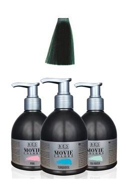 BES Movie Colors Green - gélová farba na vlasy bez amoniaku 250ml - zelená