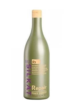 BES Silkat R1 Repair Primer Shampoo 1000ml - čistící šampon pro suché a poškozené vlasy