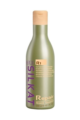 BES Silkat R1 Repair Primer Shampoo 300ml - čistící šampon pro suché a poškozené vlasy
