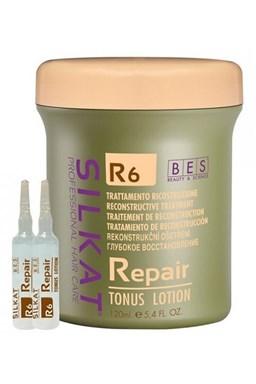 BES Silkat R6 Repair Tonus Lotion 12x10ml - keratínové tonikum pre veľmi poškodené vlasy