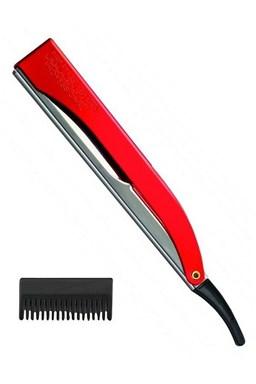 KIEPE Professional Pre Cut RED kadernícka britva s efilačnými nástavcom - červená
