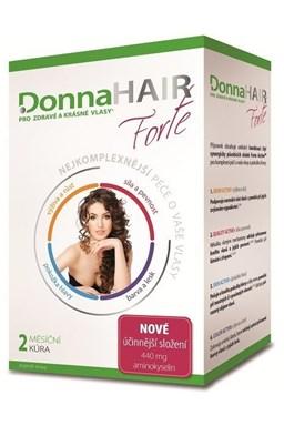 DONNA HAIR Vitamíny na vlasy Forte 60 tobolek - 2 měsíční kúra pro výživu a růst vlasů