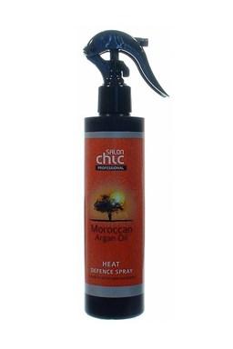 SALON CHIC Heat Defence Spray Argan Oil 200ml - ochrana vlasov pred žehlením a fénovaním