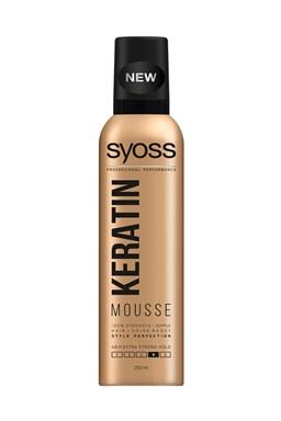 SYOSS Professional KERATIN Mousse penové tužidlo - extra silná pružná fixácia vlasov 250ml