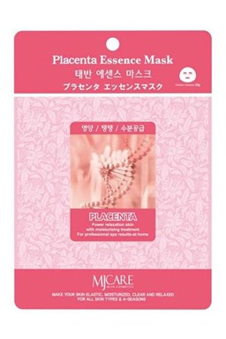 MJ CARE Placenta Pleťová maska \u200b\u200bpre všetky typy pleti, najmä suchú a matnú