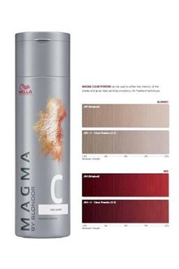 WELLA Professionals Magma By Blondor 120g - Clear Powder domiešavač, pre studené tóny
