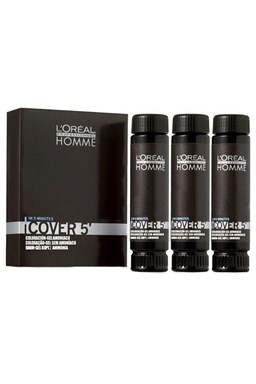 LOREAL Homme COVER 5 farba pre mužov na zakrytie šedín 3x50ml - 7 stredný blond