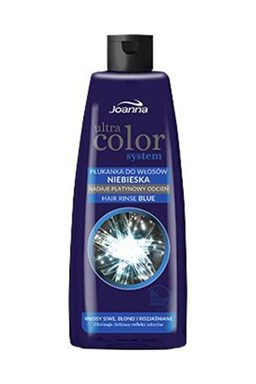 JOANNA Ultra Color BLUE Hair Rinse 150ml - tónovacie vlasová voda (preliv) - modrá