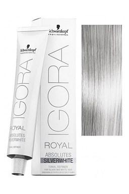 Schwarzkopf Igora Royal Absolute SilverWhite 60ml - farba pre strieborné a biele vlasy - Silver