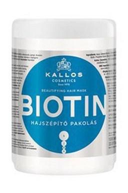 Kallos KJMN Biotín Hair Mask 1000ml - maska \u200b\u200bpre tenké, slabé a lámavé vlasy