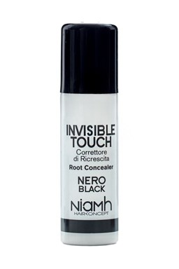 Niamh HairKoncept BLACK Invisible Touch Root Concealer 75ml - korektor v spreji - čierny