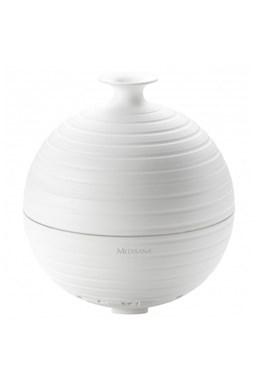 MEDISANA AD 620 Aroma difuzér na vonné oleje s časovačom a osvetlením - guľatý biely