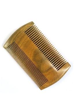 Beard Comb 00786 Sandalwood - dvojstranný hrebeň na fúzy zo santalového dreva
