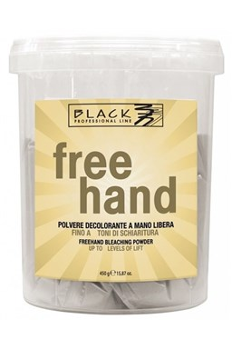 BLACK Melír Free Hand 450g - velmi silný melírovací prášek se zesvětlením až o 7 tónů
