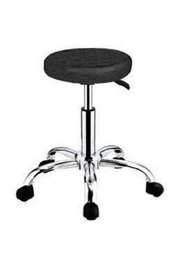 HAIRWAY Nábytok Kadernícky taburet Comfort - koliesková stolička - čierna