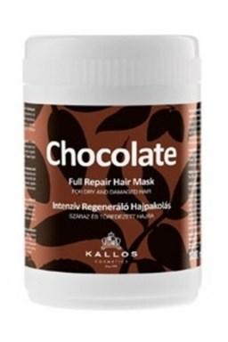 Kallos Chocolate Repair Mask 1000ml - kúra na suché lámavé vlasy