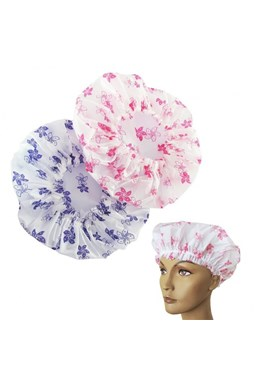 DUKO Pomůcky Sprchovací čepice s potiskem - průměr 30mm růžová