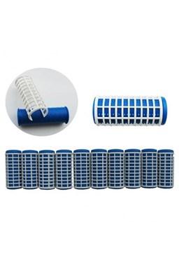DUKO Natáčky 2410 Varné natáčky na vlasy 27x68mm modrobiele 10ks - veľké