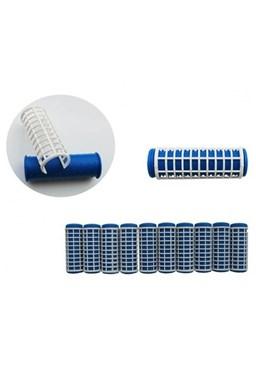 DUKO Natáčky 2430 Varné natáčky na vlasy 18x63mm modrobiele 10ks - malé