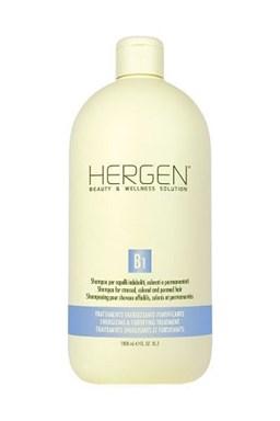 BES Hergen B1 Šampon 1000ml - pro barvené, trvalené a oslabené vlasy