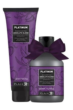 BLACK Platinum Gift Shampoo 300ml + Platinum Maschera 250ml - dárkový balíček