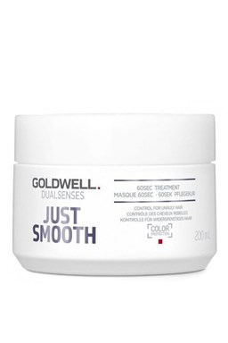 GOLDWELL Dualsenses Just Smooth 60sec Treatment 200ml - uhladzujúci maska \u200b\u200bpre krepaté vlasy