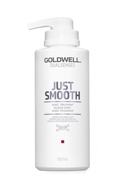 GOLDWELL Dualsenses Just Smooth 60sec Treatment 500ml - uhladzujúci maska \u200b\u200bpre krepaté vlasy