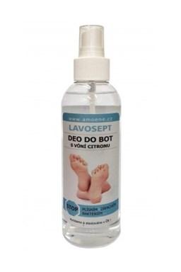 LAVOSEPT Obuv Deo do topánok 200ml - roztok pre dezinfekciu obuvi - s vôňou citrónu